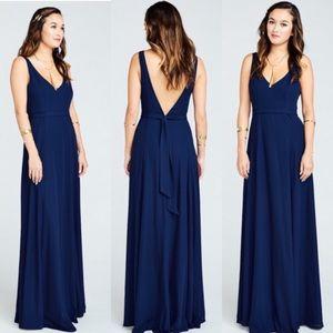 Show Me Your Mumu Jenn Maxi Dress in Navy